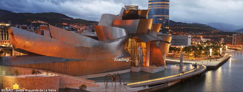 Guggenheim Museoaren ikuspegi ederra Luis Davilla argazkilariaren panoramika batean