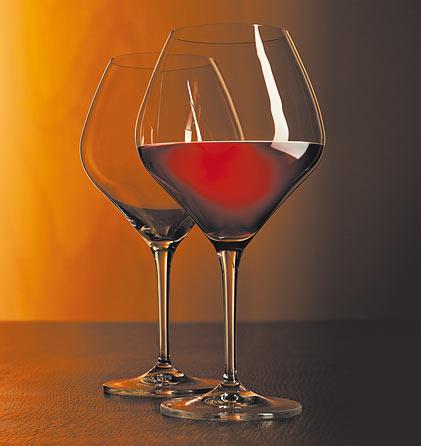 Juego de 2 copas de vino tinto