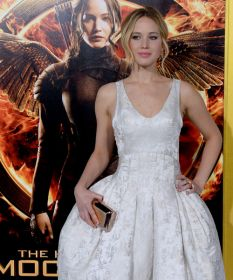 Jennifer Lawrence en la premiere de Los Juegos del Hambre