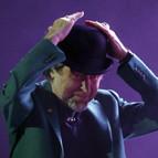 El cantante y compositor Joaquín Sabina en uno de sus conciertos.