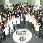 Celebración de la candidatura de Vitoria tras conseguir el título de Capital Gastronómica.2014.