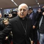 Ricardo Blázquez, a su llegada a la asamblea plenaria de los obispos.
