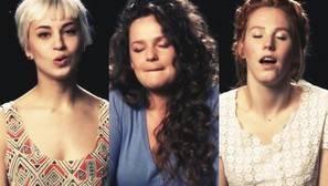 Las tres protagonistas del vídeo.