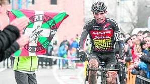 Javier Ruiz de Larrinaga, ganador ayer en Ormaiztegi.