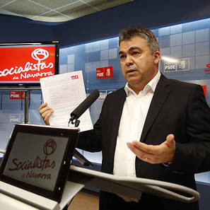 Santos Cerdán, secretario de Organización del PSN.