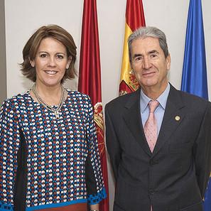 La Presidenta Barcina y Arlabán.