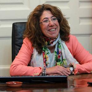 Carmen Alba, en su despacho de la Delegación del Gobierno en Navarra.