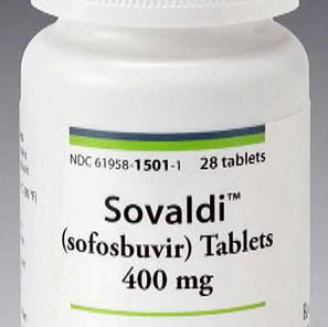 El medicamento Sovaldi (sofosbuvir).