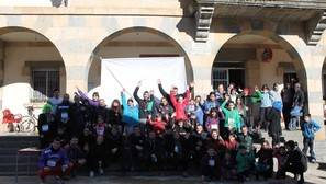 Participantes de la carrera de San Silvestre que se celebró el 31 de diciembre.