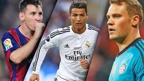 Messi, Cristiano y Neuer optan al Balón de Oro.