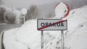 Opakua, presentaba su aspecto más invernal.