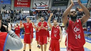 El CAI Zaragoza celebra su clasificación para la Copa.