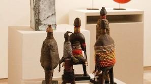 Algunas de las obras que se pueden ver en la muestra.