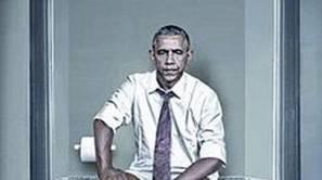 Montaje de Barack Obama para la exposición de Cristina Guggeri