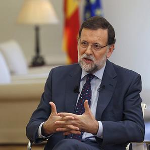 El presidente del Gobierno, Mariano Rajoy, en un momento de la entrevista.