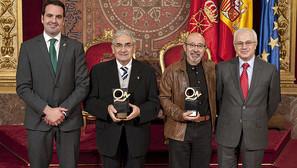 Íñigo Alli, Pedro Puente, Iñaki San Miguel y Miguel Echarri.