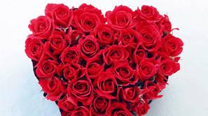 Un ramo de flores para San Valentín.