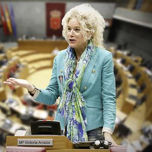 Declaración de condolencia por el fallecimiento de la Parlamentaria Foral María Victoria Arraiza.