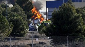 Accidente del F-16 griego en Albacete.