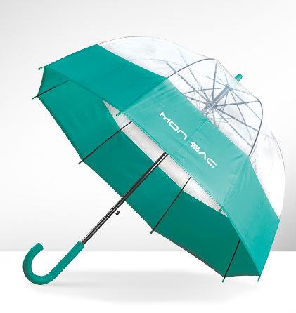 Paraguas burbuja verde