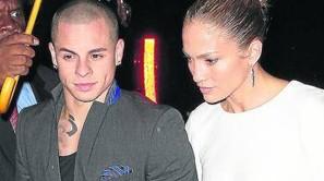 Casper Smart y Jennifer Lopez.