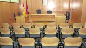 Vista de la sala de juicio.