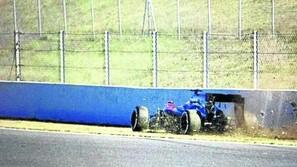 Una imagen del accidente de Fernando Alonso.