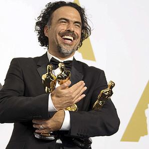 El cineasta mexicano Alejandro González Iñárritu, el gran triunfador.