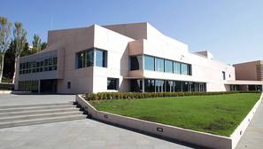 Vista exterior de la fachada del nuevo Museo Universidad de Navarra.