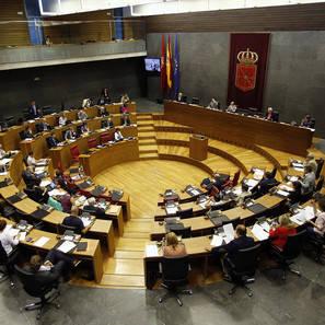 El pleno del Parlamento de Navarra.