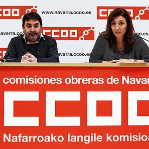 Rueda de prensa de CCOO para dar a conocer el programa de formación y empleo de Forem.