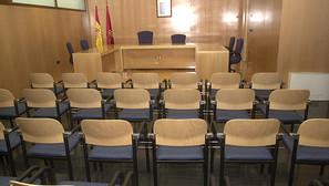 Vista de la sala de juicios de los Juzgados de Aoiz.