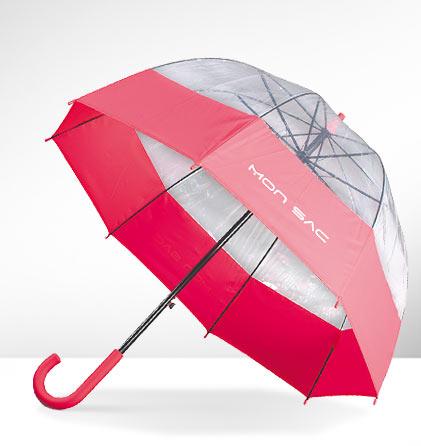 Paraguas burbuja fucsia