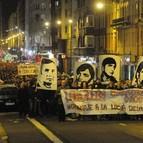 Manifestación en recuerdo a los obreros muertos el 3 de marzo de 1976 y reclamando justicia para ellos.