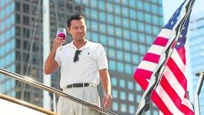 DiCaprio en la grabación de 'El lobo de Wall Street'. Fotos: E.P.
