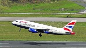 Un avión de British Airways despegó ayer en Loiu.
