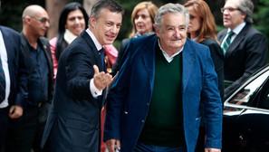 El expresidente uruguayo José Mujica con el lehendakari Iñigo Urkullu, durante su visita anterior.