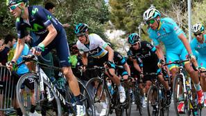 Alejandro Valverde firmó su tercer triunfo de etapa en la Volta que se llevó Richie Porte.