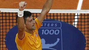 Novak Djokovic celebra su victoria en Montecarlo.