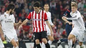 Iraola en el partido ante el Madrid