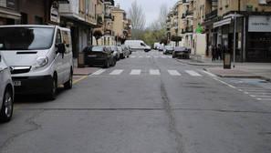 Imagen de la avenida Diputación Foral, que arreglarán en los próximos días.