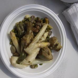 Plato de menestra de verduras.