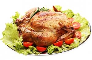 Menú pollo asado para dos o cuatro
