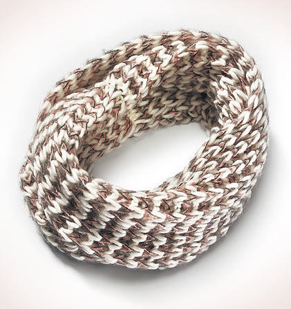 Cuello bufanda blanco jaspeado