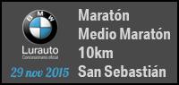 BMW Lurauto, Maratón + Medio Maratón + 10km de San Sebastián