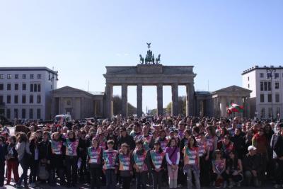 Berlingo Euskal Etxea irabazi zuen 2014ko ENE Saria. Irudian, Berlingo Euskal Etxea Korrika 17 ospatzen (argazkia Berlin EE)