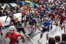 Vídeo en meta de los rollers que participaron en los 15 kilómetros de Donostia