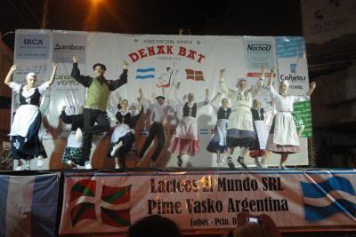 2015eko Dantzarien Topaketan, anfitrioien Fandango eta Arin Arin