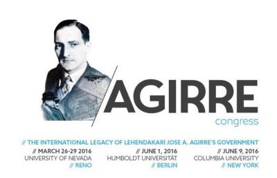 Cartel promocional del Congreso sobre el lehendakari Jose Antonio Agirre