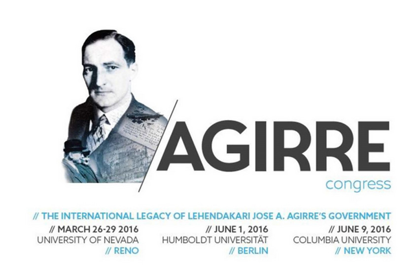 Promotional poster for the Conference on Lehendakari Jose Antonio Agirre